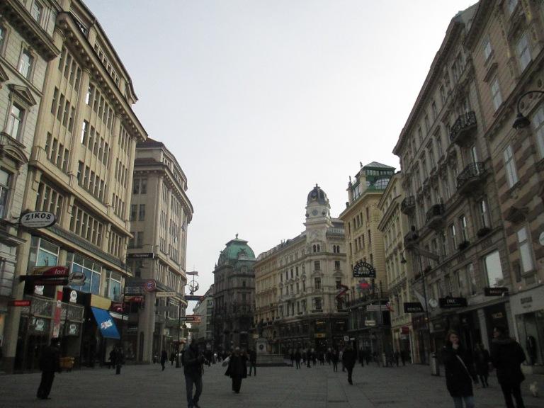 Vienna on a much busier Monday
